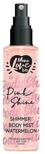 Brume scintillante pour corps, Pastèque - MonoLove Bio Shimmer Body Mist Watermelon Pink Shine