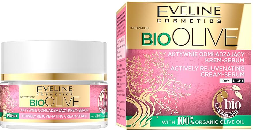 Crème-sérum à l'huile d'olive bio pour visage - Eveline Cosmetics Bio Olive Actively Rejuvenating Cream-serum