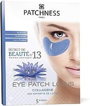 Parfums et Produits cosmétiques Patchs apaisants à l'extrait de lotus pour contour des yeux, 5 paires - Patchness Eye Patch Lotus