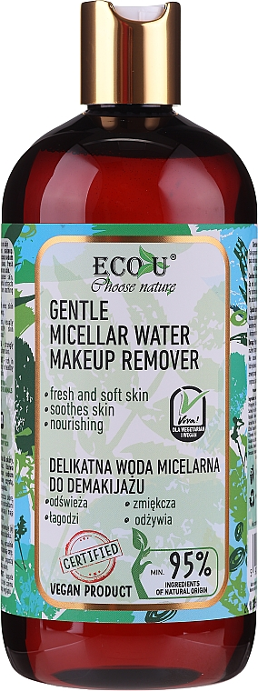 Eau micellaire à l'extrait de camomille - Eco U Choose Nature Gentle Micellar Water