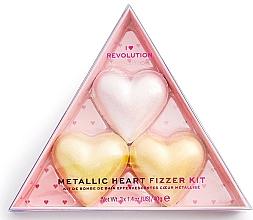 Parfums et Produits cosmétiques Coffret cadeau - I Heart Revolution Metallic Heart Fizzer Kit (bath/fiz/40gx3)