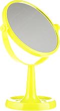 Parfums et Produits cosmétiques Miroir grossissant à poser 85734, 15,5 cm, jaune - Top Choice Colours Mirror