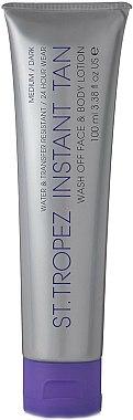 Lotion bronzante pour visage et corps,moyen à foncé - St. Tropez Instant Tan Wash Off Face & Body Lotion Medium/Dark — Photo N1
