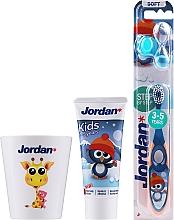 Parfums et Produits cosmétiques Jordan Kids - Set, Pingouin (dentifrice/50ml + brosse à dents/1pcs + tasse)