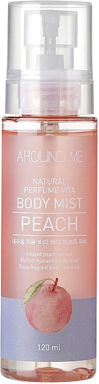 Brume à l'extrait de pêche pour corps - Welcos Around Me Natural Perfume Vita Body Mist Peach