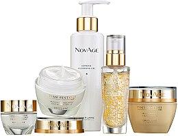Parfums et Produits cosmétiques Oriflame NovAge Time Restore - Coffret visage (gel nettoyant/150ml+crème contour yeux et lèvres/15ml+sérum/30ml+crème de jour/50ml+crème de nuit/50ml)