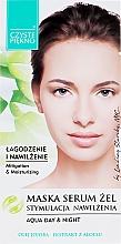 Parfums et Produits cosmétiques Gel masque-sérum à l'huile de jojoba et à l'extrait d'aloe vera pour visage Stimulation de l'hydratation - Czyste Piekno Face Mask Serum Gel