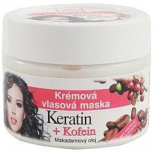 Parfums et Produits cosmétiques Masque crème à la kératine et caféine pour cheveux - Bione Cosmetics Keratin + Caffeine Cream Hair Mask