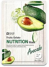 Parfums et Produits cosmétiques Masque tissu à l'extrait d'avocat pour visage - SNP Fruits Gelato Nutrition Mask