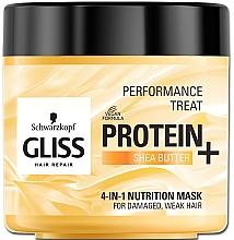 Parfums et Produits cosmétiques Masque au beurre de karité pour cheveux - Schwarzkopf Gliss Kur Performance Treat