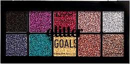 Parfums et Produits cosmétiques Palette de paillettes pressées pour visage et corps - NYX Professional Glitter Goals