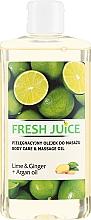 Parfums et Produits cosmétiques Huile de massage au citron, gingembre et argan - Fresh Juice Energy Lime&Ginger+Argan Oil