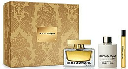 Parfums et Produits cosmétiques Dolce & Gabbana The One - Coffret (eau de parfum/75ml + émulsion parfumée corps/100ml + eau de parfum/10ml)