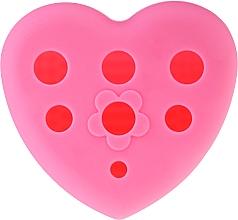 Parfums et Produits cosmétiques Brosse nettoyante cœur en silicone pour pinceaux maquillage, rose - Lash Brow