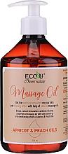 Parfums et Produits cosmétiques Huile de massage aux huiles d'abricot et pêche - Eco U Massage Oil Sweet Apricot & Peach Oil