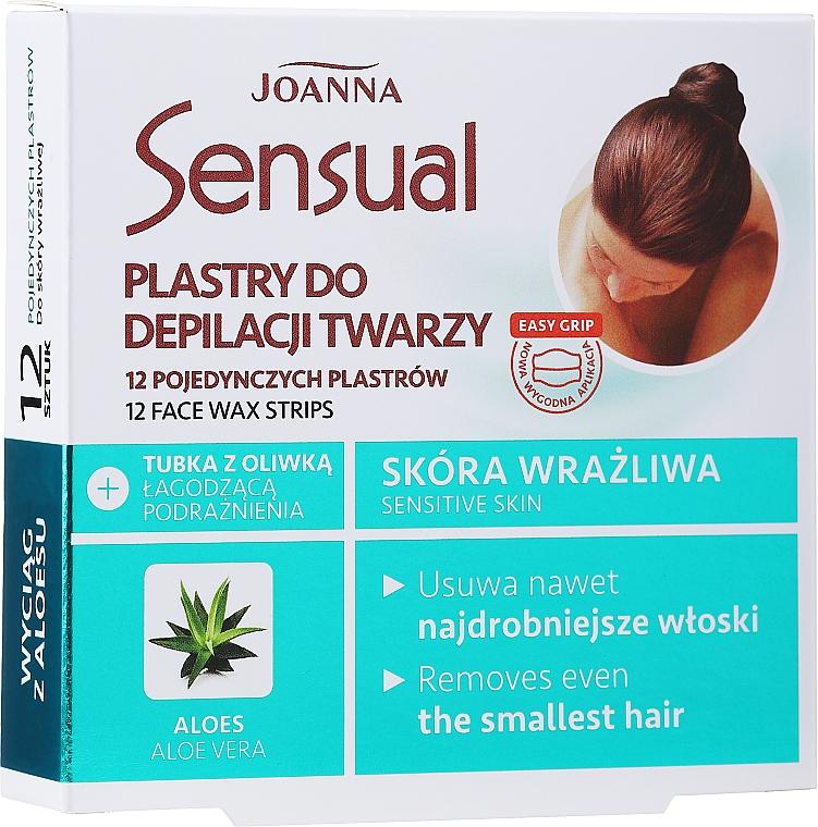 Bandes de cire à l'extrait d'aloe vera pour visage - Joanna Sensual Depilatory Face Strips