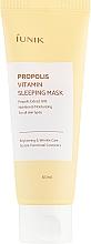 Parfums et Produits cosmétiques Masque de nuit à l'extrait de propolis et baies d'argousier - iUNIK Propolis Vitamin Sleeping Mask