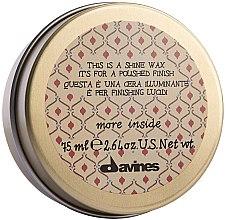 Parfums et Produits cosmétiques Cire crémeuse à tenue légère - Davines More Inside This Is A Shine Wax