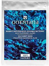 Parfums et Produits cosmétiques Masque tissu en soie aux algues et aloe des Philippines pour visage - Orientana Silk Cloth Face Mask Philippine Seaweed & Aloe