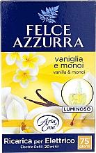 Parfums et Produits cosmétiques Recharge pour diffuseur de parfum électrique Vanille et Monoï - Felce Azzurra Vanilla & Monoi Oil