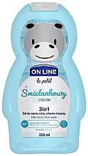 Parfums et Produits cosmétiques Gel crémeux lavant à la glycérine pour corps, cheveux et visage - On Line Le Petit Cream 3 In 1 Hair Body Face Wash