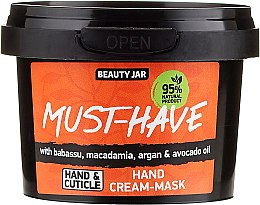 """Parfums et Produits cosmétiques Crème-masque mains """"Babassu, argan, macadamia, huile d'avocat"""" - Beauty Jar Must-Have Hand Cream-Mask"""