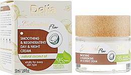 Parfums et Produits cosmétiques Crème à l'huile de noix de coco pour visage - Delia Botanical Flow Smoothing & Regenerating Day & Night Cream