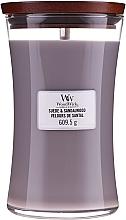 Parfums et Produits cosmétiques Bougie parfumée avec mèche en bois, Velours de Santal - WoodWick Suede & Sandalwood Candle