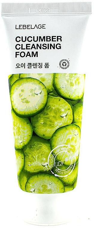 Mousse nettoyante pour visage, Concombre - Lebelage Cucumber Cleansing Foam — Photo N1