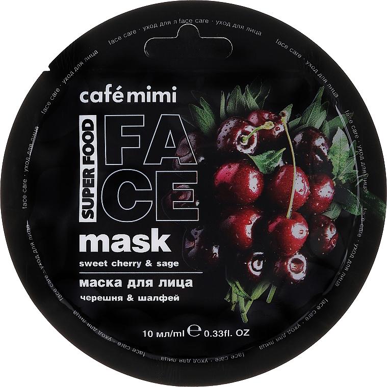 Masque à l'extrait de cerise et de sauge pour visage - Cafe Mimi Face Mask