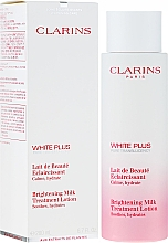 Parfums et Produits cosmétiques Lait éclaircissant à l'extrait d'acérola et alchemille pour visage - Clarins White Plus Brightening Milk Treatment Lotion