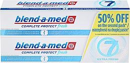Parfums et Produits cosmétiques Lot de 2 dentifrices protection complète - Blend-a-med Complete 7 Extra Fresh