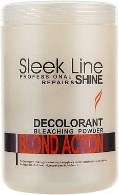 Poudre à l'oxygène actif pour cheveux - Stapiz Sleek Line Repair & Shine Blond Action