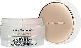 Parfums et Produits cosmétiques Duo de masques visage pureté et fraîcheur - Bare Escentuals Bare Minerals Claymates Be Pure & Be Dewy Mask Duo