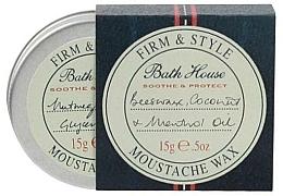 Parfums et Produits cosmétiques Cire à moustache à l'huile de coco et de menthol - Bath House Menthol Snorwax