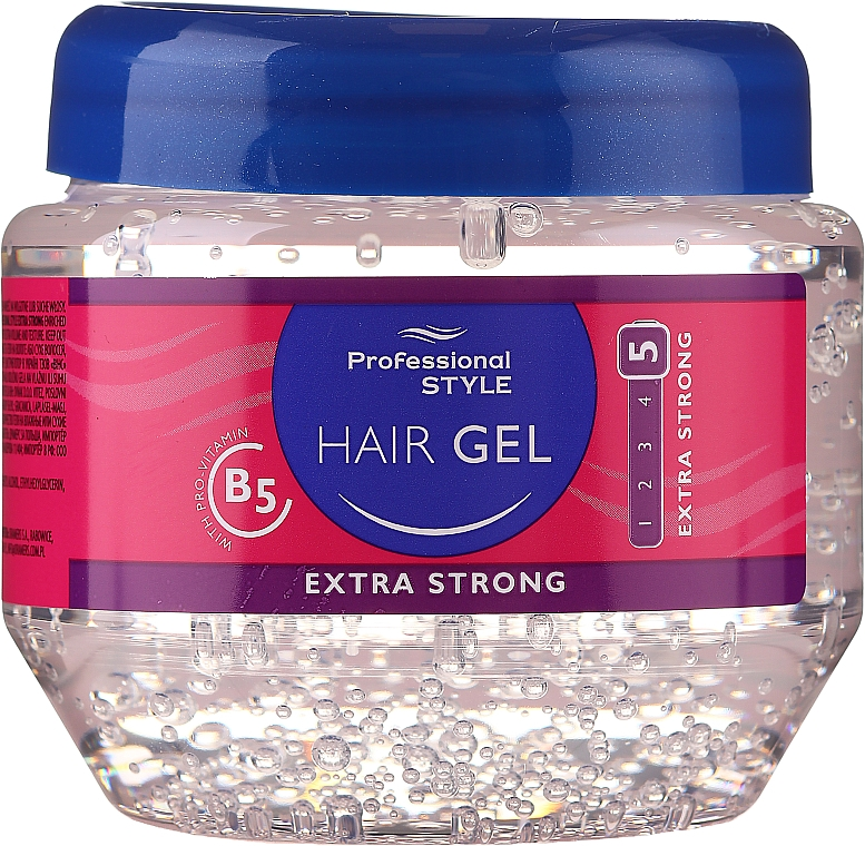 Gel coiffant fixation ultra forte - Professional Style Hair Gel Extra Strong