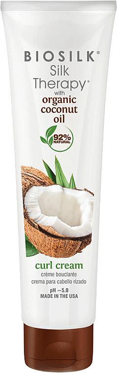 Crème coiffante - BioSilk Silk Therapy Organic Coconut Oil Curl Cream