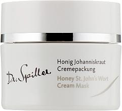 Parfums et Produits cosmétiques Masque crème à l'huile de millepertuis - Dr. Spiller Honey St.John's Wort Cream Mask