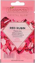 Parfums et Produits cosmétiques Masque à l'extrait d'amarante pour visage - Bielenda Crystal Glow Red Rubin