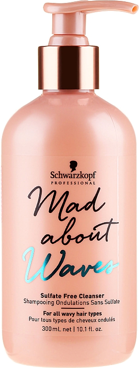 Shampooing sans sulfates - Schwarzkopf Professional Mad About Waves Sulfate Free Cleanser