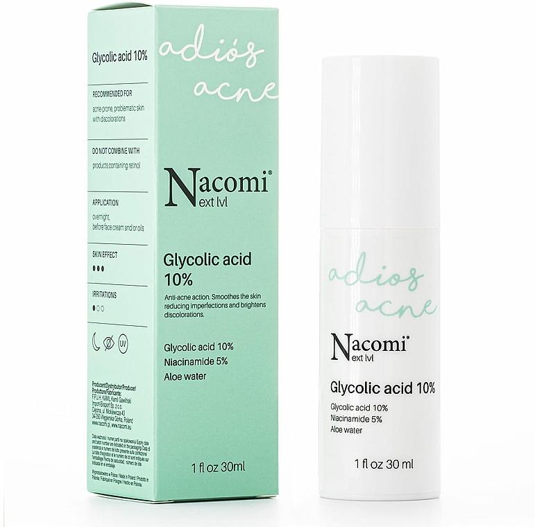 Sérum de nuit à l'acide glycolique 10% - Nacomi Next Level Glycolic Acid 10%