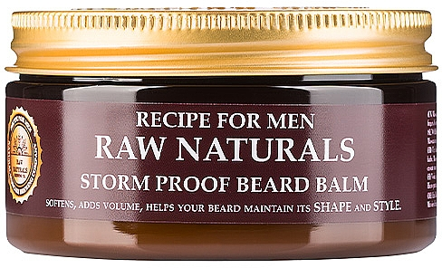 Baume coiffant pour barbe - Recipe For Men RAW Naturals Storm Proof Beard Balm