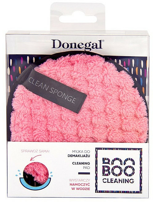 Éponge démaquillante, rose - Donegal Boo Boo Cleaning — Photo N2
