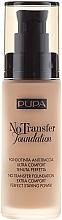 Parfums et Produits cosmétiques Fond de teint SPF 15 - Pupa No Transfer Foundation