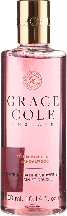 Gel bain et douche Vanille et bois de santal - Grace Cole Warm Vanilla & Sandalwood Soothing Bath & Shower Gel