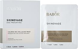 Parfums et Produits cosmétiques Masque bio-cellulose apaisant à l'acide hyaluronique pour visage - Babor Skinovage Calming Bio-Cellulose Mask