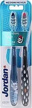 Parfums et Produits cosmétiques Brosses à dents, médium, bleu, noir - Jordan Individual Clean Medium