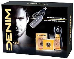 Parfums et Produits cosmétiques Set - Denim Gold (gel douche/250ml + lotion après-rasage/100ml + usb)