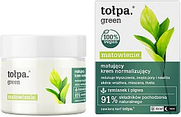 Parfums et Produits cosmétiques Crème de jour et nuit aux extraits de thym et coing - Tolpa Green Mattifying Normalizing Cream