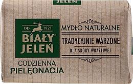 Parfums et Produits cosmétiques Savon naturel au lin pour peaux sensibles - Bialy Jelen Hypoallergenic Natural Soap Premium